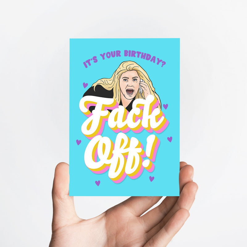 Fack Off Card Native 21 Greetings Card