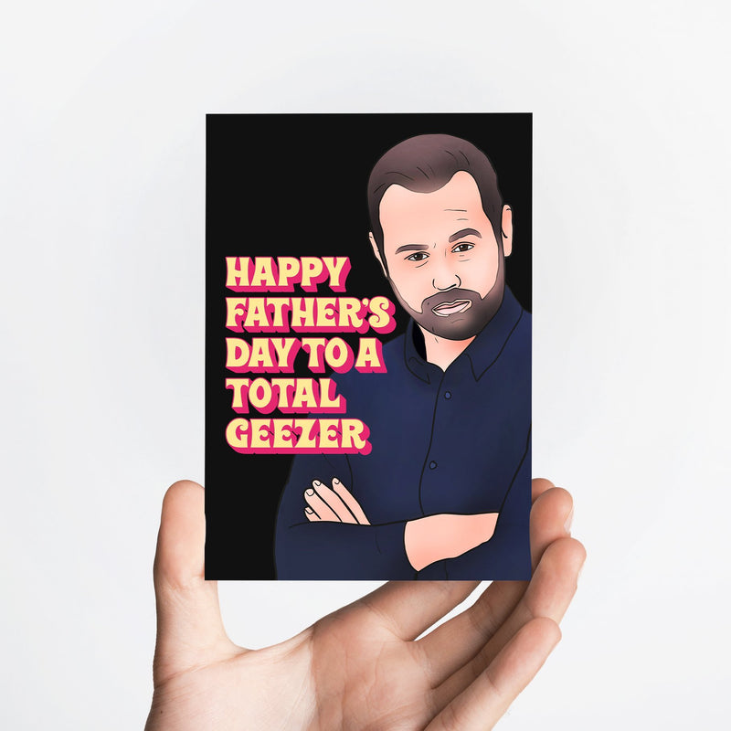 Geezer Card Native 21 Greetings Card