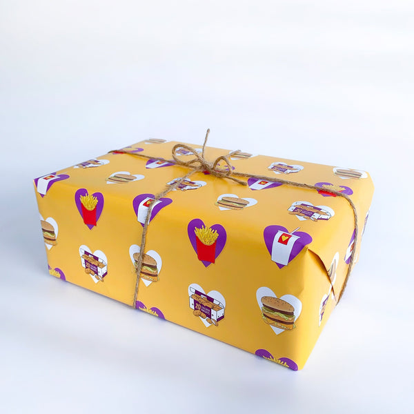Nuggets and Fries Gift Wrap Native 21 Gift Wrap