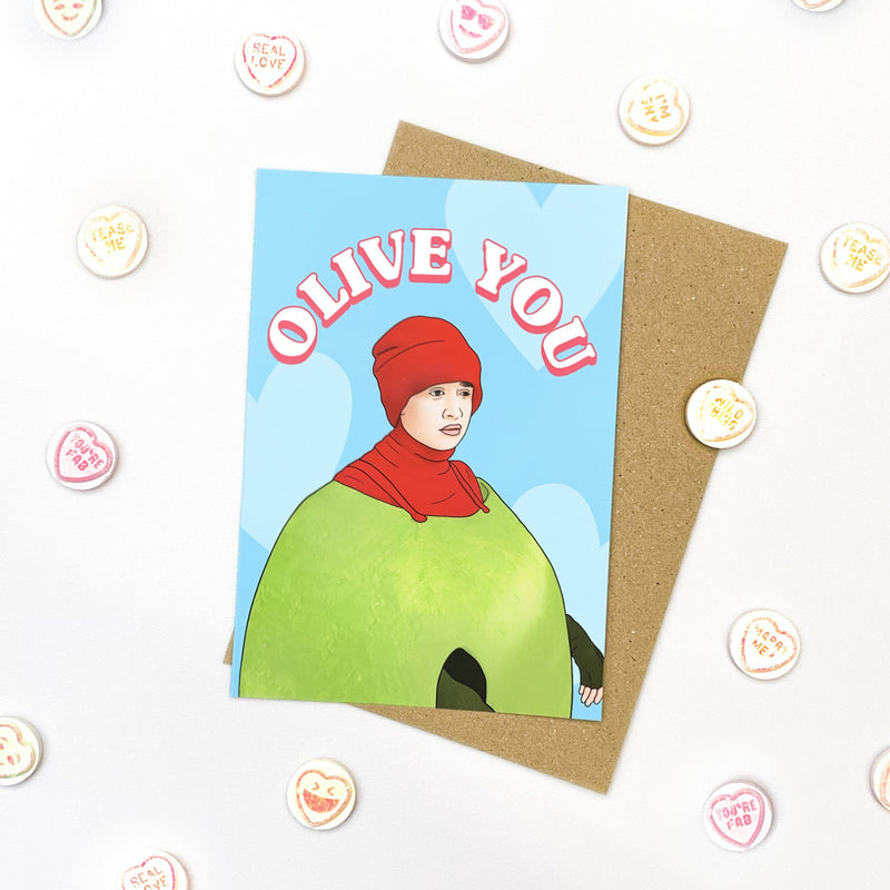 Olive You Card Native 21 Greetings Card