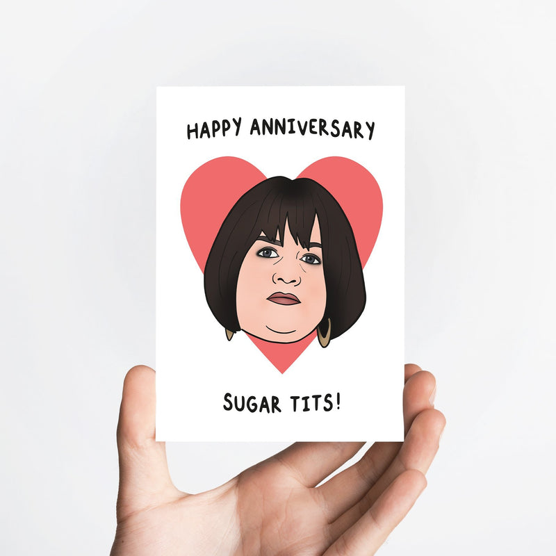 Sugar Tits Anniversary Card Native 21 Greetings Card