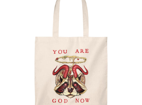 Pizzaphomet 'You Are God Now' Tote Bag