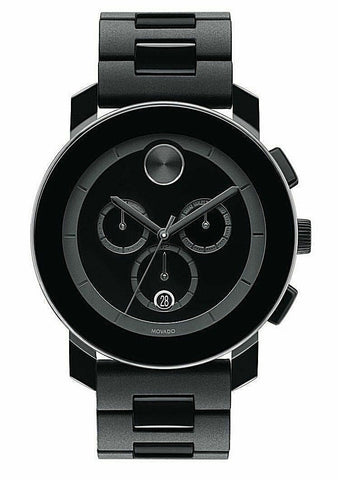 BRAND NEW MOVADO MEN'S BOLD TR90 3600048 SWISS QUARTZ CHRONOGRAPH BLACK WATCH