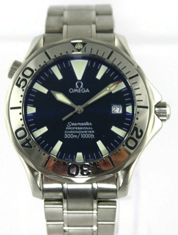 OMEGA SEAMASTER PROFESSIONAL 2255.80 AUTO CHRONOMETER ELECTRIC BLUE MENS WATCH