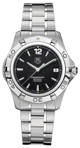 TAG HEUER AQUARACER WAF2110.BA0806 AUTOMATIC CALIBRE 5 MENS BLACK LUXURY WATCH