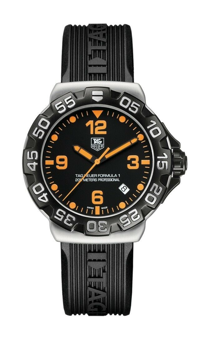 TAG HEUER FORMULA 1 WAH1116.FT6024 QUARTZ ORANGE NUMBERS RUBBER QUARTZ WATCH