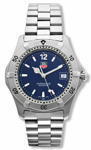 TAG HEUER 2000 PROFESSIONAL WK1113.BA0311 QUARTZ LADIES SWISS CLASSIC BLUE WATCH