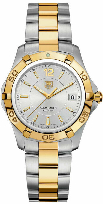 TAG HEUER AQUARACER WAF1120.BB0807 SWISS QUARTZ 18K TWO TONE MENS OFFICIAL WATCH