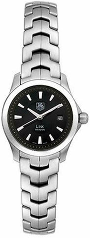 TAG HEUER LADIES LINK WJF1313.BA0571 SWISS QUARTZ DIVER LUXURY BLACK WATCH RARE