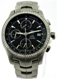 GIFT IDEA TAG HEUER LINK CJF2117.BA0594 CHRONOGRAPH AUTOMATIC DIAMOND WATCH