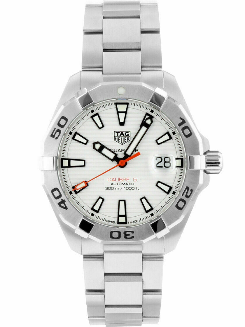 TAG HEUER AQUARACER WBD2111.BA0928 AUTOMATIC CALIBRE 5 WHITE LUXURY SPORTS WATCH