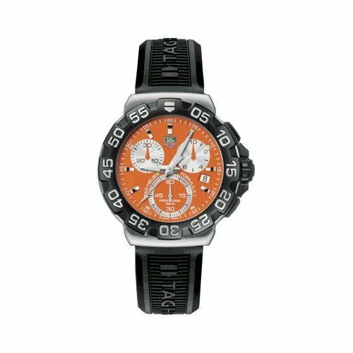 SALE TAG HEUER FORMULA 1 CAH1113.BT0714 QUARTZ CHRONOGRAPH ORANGE RUBBER WATCH