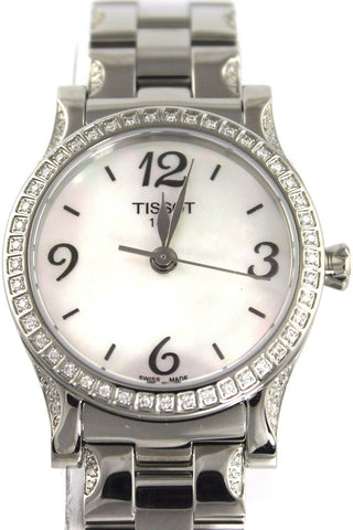 NEW TISSOT T CLASSIC STYLIS-T DIAMOND SWISS PEARL LADIES WATCH T0282101111700