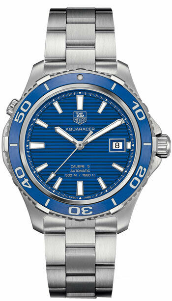 TAG HEUER AQUARACER WAK2111.BA0830 BLUE CERAMIC AUTOMATIC 500M MEN'S SWISS WATCH