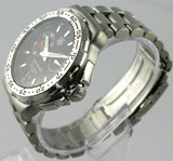 TAG HEUER FORMULA 1 WAH111C.BA0850 ALARM QUARTZ BLACK STEEL MENS SPORTS WATCH