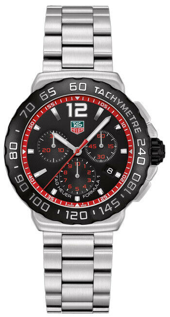 AUTHENTIC TAG HEUER FORMULA 1 CAU1116.BA0858 QUARTZ CHRONOGRAPH STEEL MENS WATCH