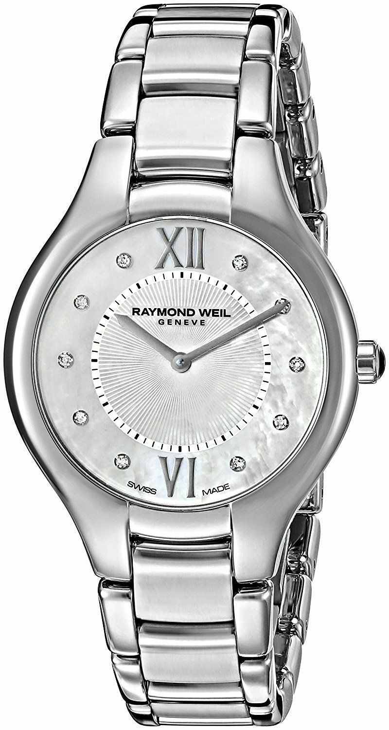 BRAND NEW RAYMOND WEIL NOEMIA 5132-ST-00985 DIAMOND PEARL LADIES SWISS WATCH