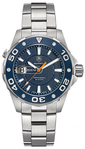 TAG HEUER AQUARACER WAJ1112.BA0871 500M DIVER BLUE SWISS QUARTZ LUXURY MEN WATCH