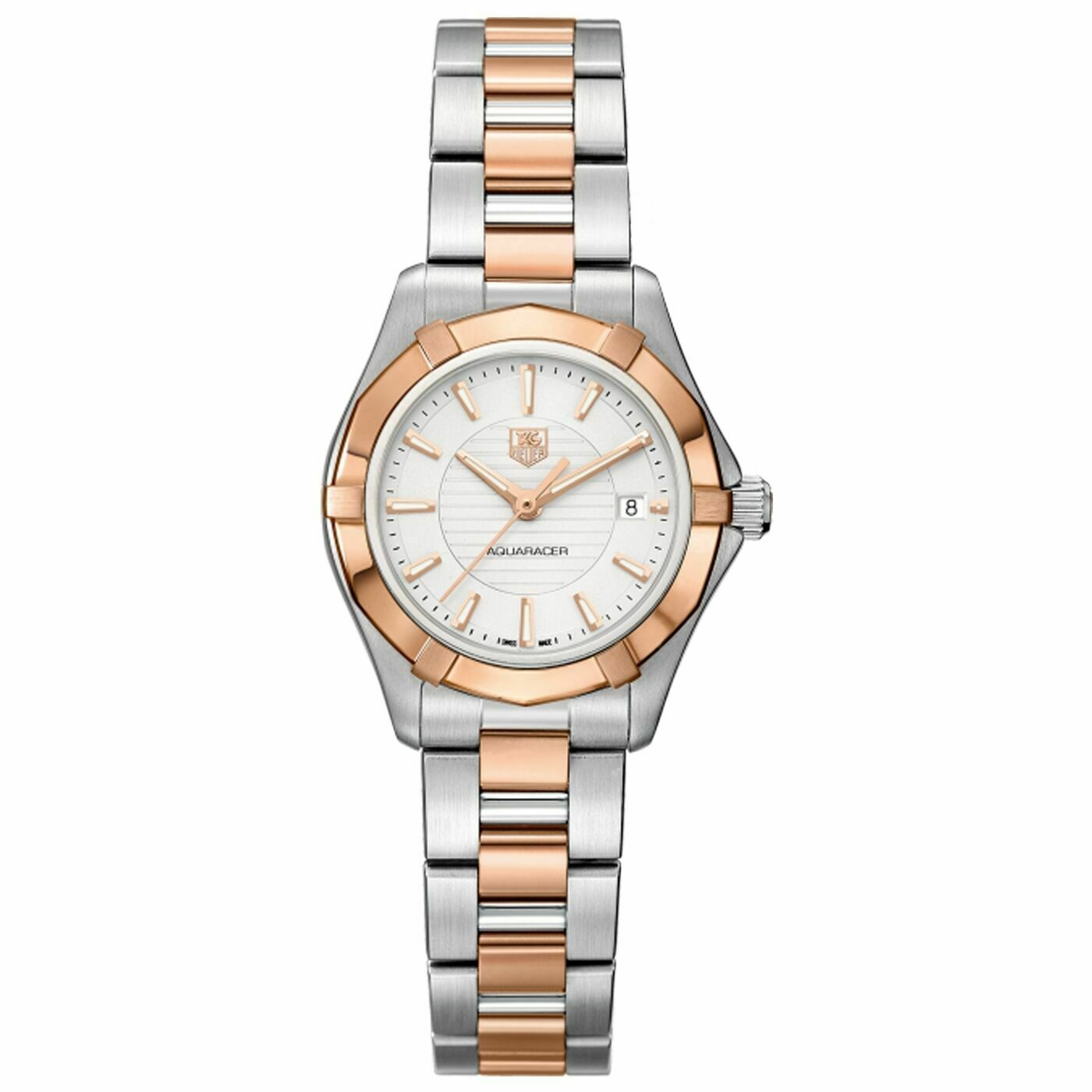 TAG HEUER AQUARACER WAP1450.BD0837 DIAMOND PEARL 18K ROSE GOLD LADIES WATCH