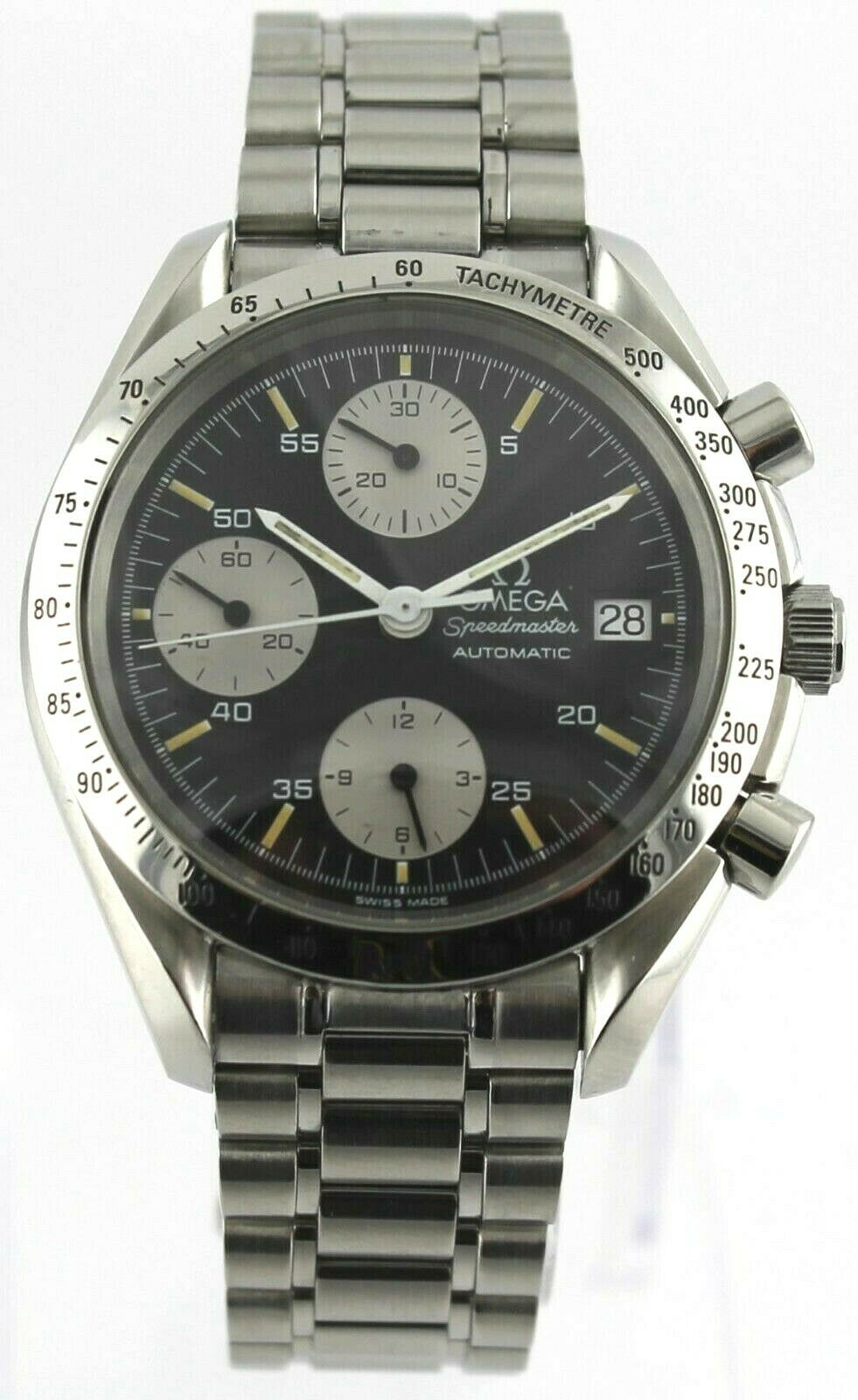 OMEGA MENS SPEEDMASTER 3511.50 AUTOMATIC CHRONOGRAPH DATE STEEL BLACK  WATCH