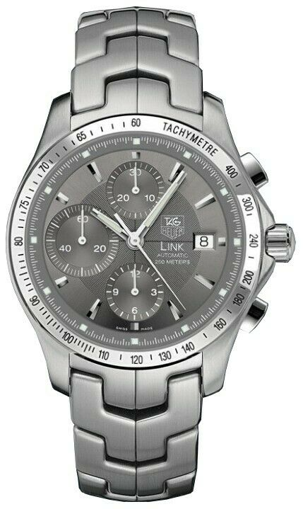 TAG HEUER LINK CJF2115.BA0576 CHRONOGRAPH AUTOMATIC GRAY LUXURY MENS SWISS WATCH