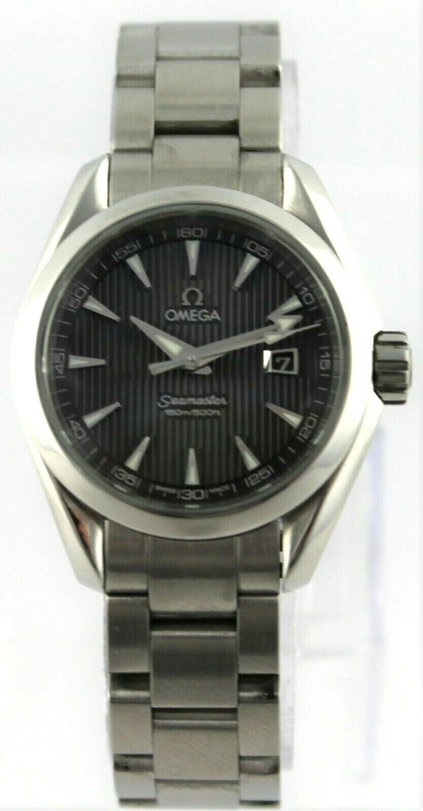 GENUINE OMEGA SEAMASTER AQUA TERRA 231.10.30.61.06.001 SWISS QUARTZ LADIES WATCH