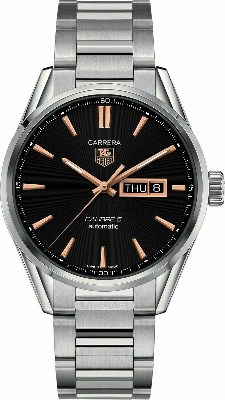 TAG HEUER CARRERA WAR201C.BA0723 MEN'S ROSE GOLD AUTOMATIC DAY DATE LUXURY WATCH