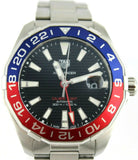 TAG HEUER AQUARACER WAY201F.BA0927 AUTOMATIC PEPSI GMT MENS LUXURY SWISS WATCH