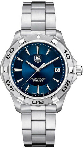 TAG HEUER WAP1112.BA0831 AQUARACER SWISS QUARTZ MEN BLUE LUXURY AUTHENTIC WATCH
