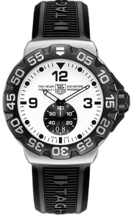 TAG HEUER FORMULA 1 WAH1011.BT0717 GRANDE DATE QUARTZ BLACK RUBBER MENS WATCH