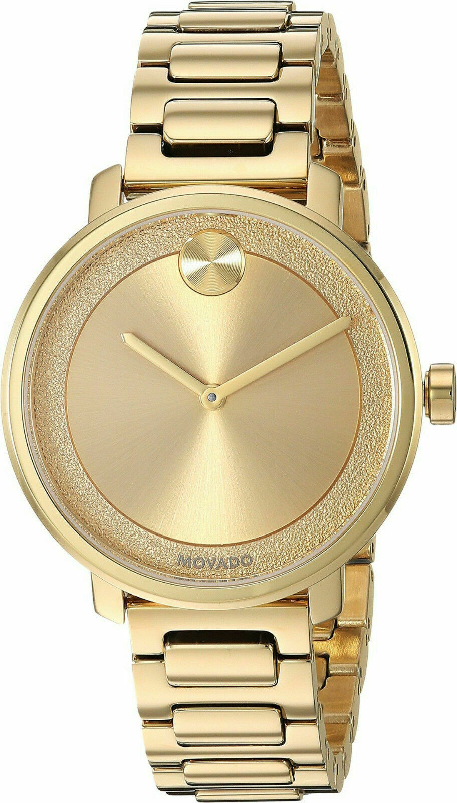 BRAND NEW MOVADO BOLD 3600502 GOLD TONE LADIES SUGAR DIAL SWISS QUARTZ WATCH