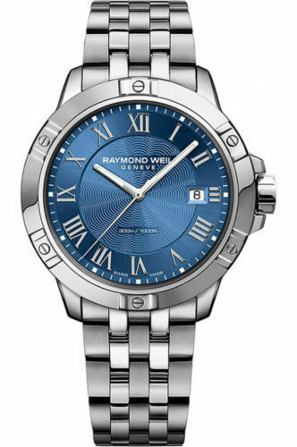 BRAND NEW RAYMOND WEIL TANGO 8160-ST-00508 MEN'S BLUE 41MM LUXURY DIVER WATCH