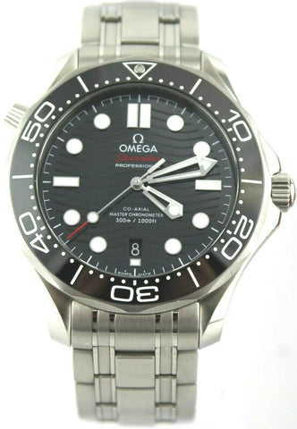 OMEGA SEAMASTER 210.30.42.20.01.001 AUTOMATIC CO AXIAL MEN'S BLACK LARGE WATCH
