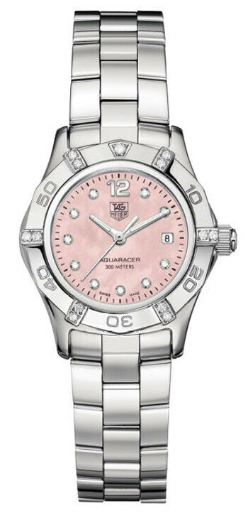 TAG HEUER AQUARACER WAF141H.BA0813 LADIES PINK PEARL DIAMOND STUNNING WATCH