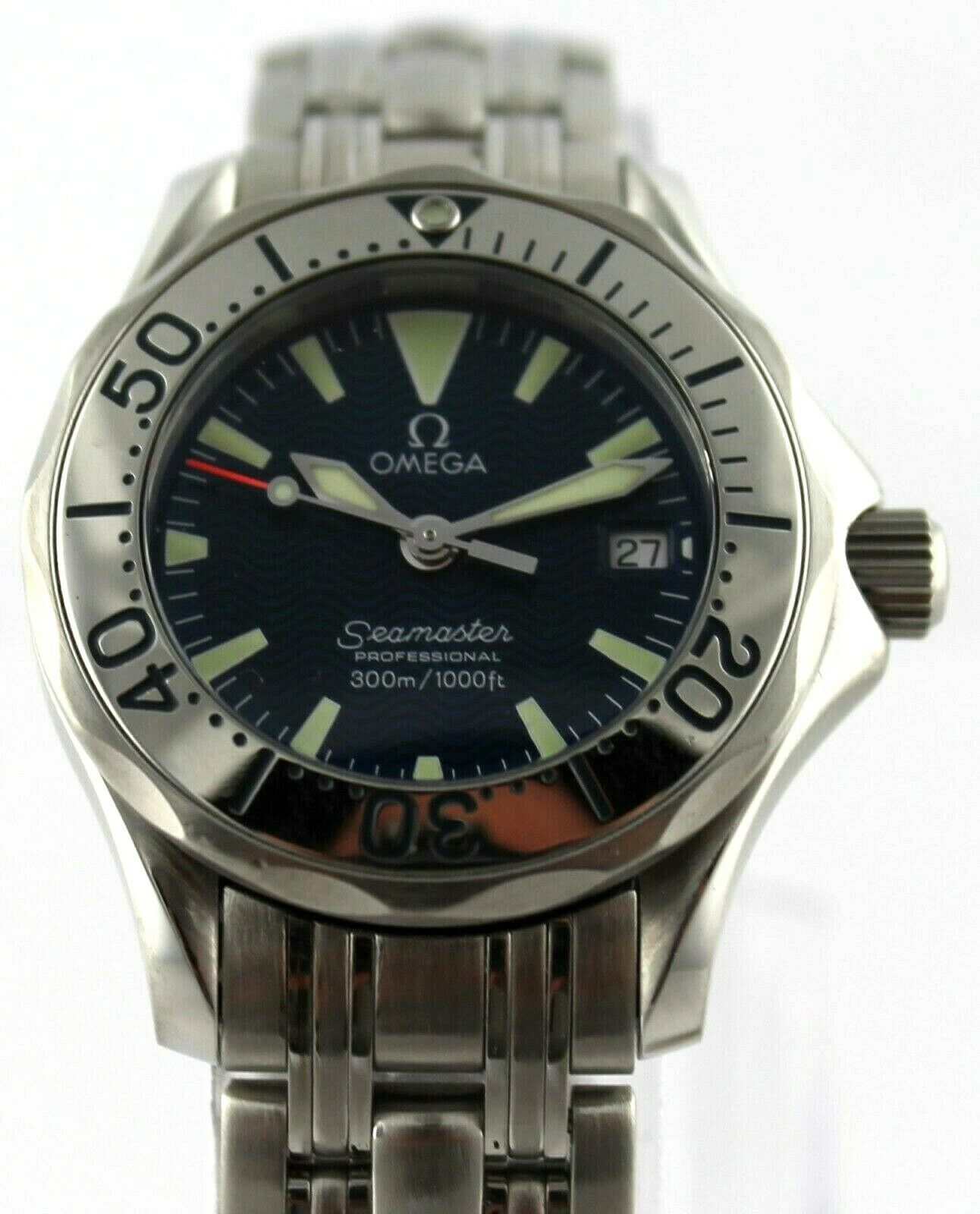 OMEGA SEAMASTER PROFESSIONAL 2283.80 SWISS QUARTZ LADIES BLUE STEEL LUXURY WATCH