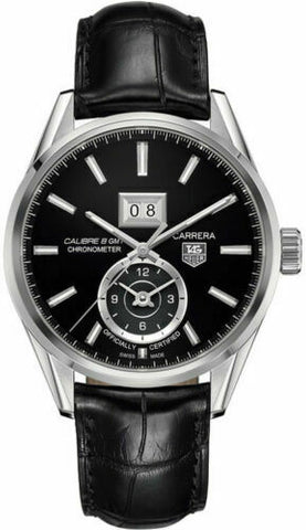 TAG HEUER CARRERA WAR5010.FC6266 CHRONOMETER GRANDE DATE CALIBRE 8 GMT WATCH