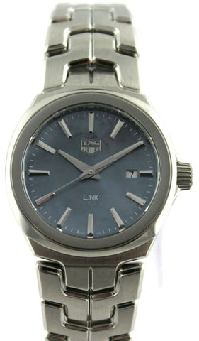 TAG HEUER LADIES LINK WBC1311.BA0600 BLUE PEARL SWISS 32 MM LUXURY GIFT WATCH