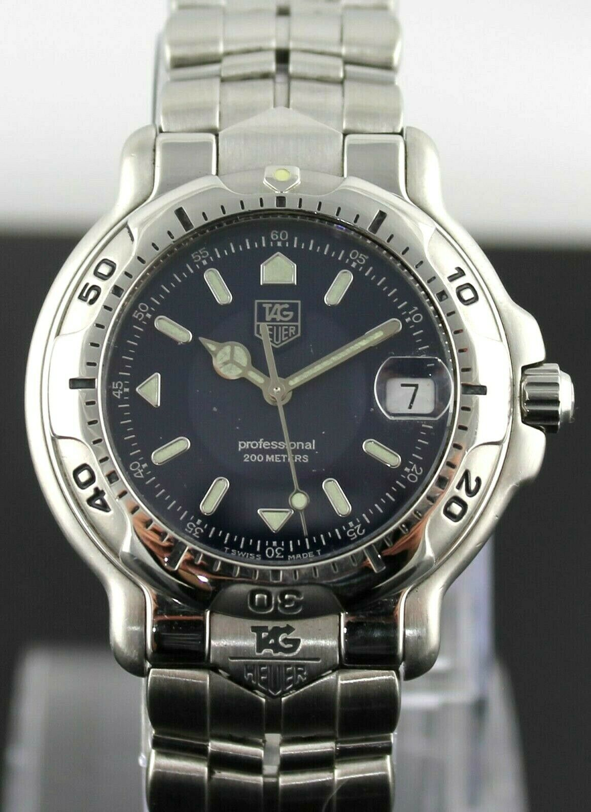 TAG HEUER 6000 PROFESSIONAL WH1115.BA0675 K1 MENS DARK BLUE SWISS CLASSIC WATCH