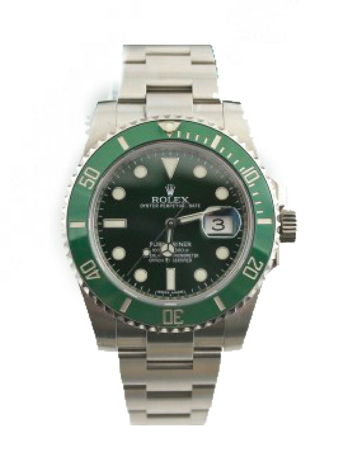MINT ROLEX SUBMARINER HULK 116610LV GREEN CERAMIC MENS 40MM WATCH BOX & PAPERS
