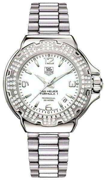 TAG HEUER FORMULA 1 WAC1215.BA0852 DIAMOND LADIES SWISS QUARTZ LUXURY WATCH
