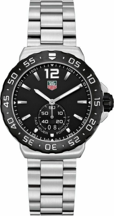 TAG HEUER FORMULA 1 WAU1110.BA0858 MEN'S SWISS QUARTZ BLACK SPORTS STEEL WATCH