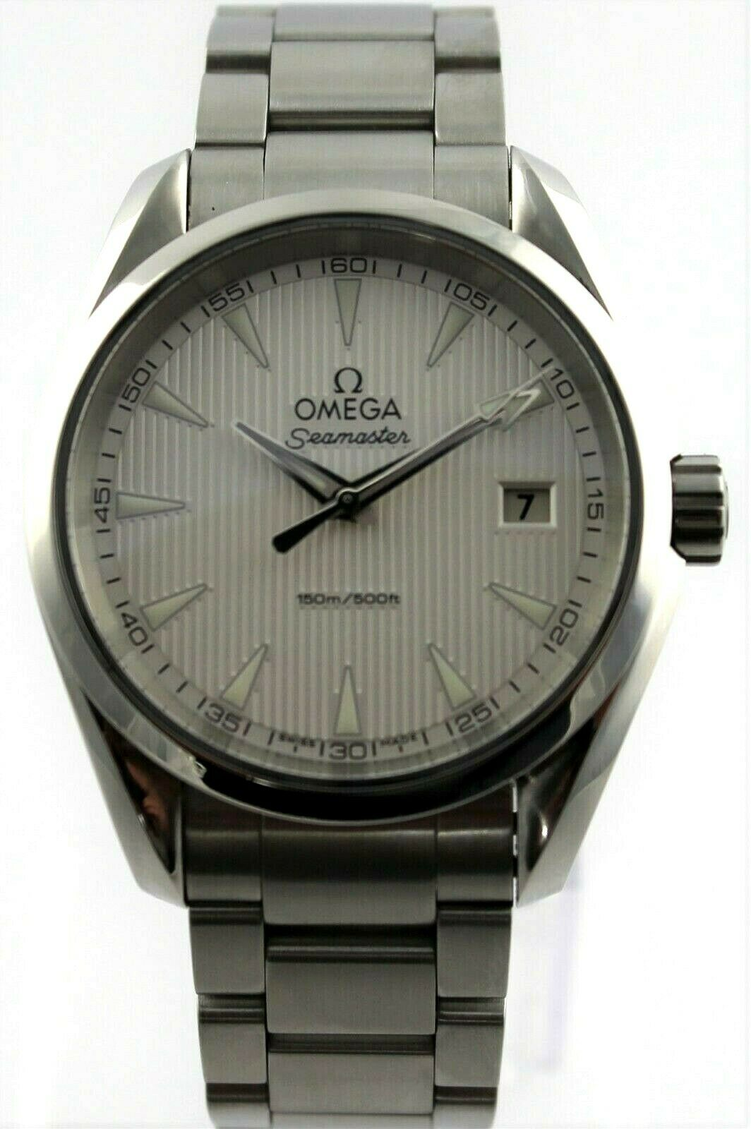 OMEGA SEAMASTER AQUA TERRA 231.10.39.60.02.001  SILVER SWISS QUARTZ MENS WATCH