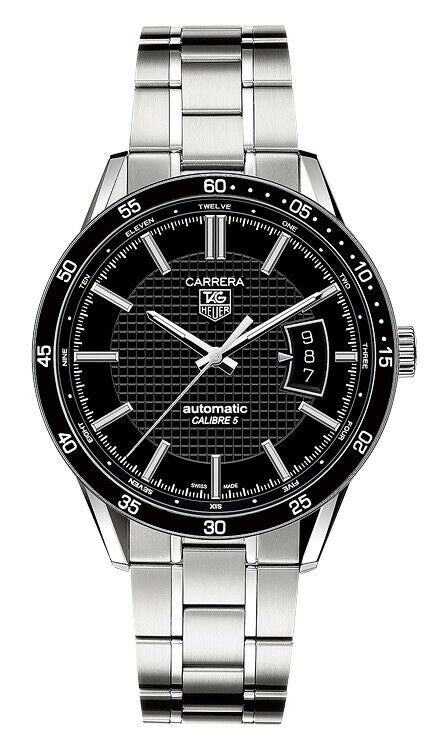 TAG HEUER CARRERA WV211N.BA0787 MEN'S AUTOMATIC BLACK STEEL LUXURY DATE WATCH