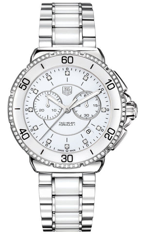 GIFT IDEA TAG HEUER FORMULA 1 CAH1213.BA0863 DIAMOND WHITE CERAMIC LADIES WATCH