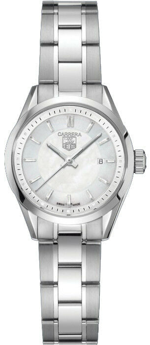 TAG HEUER LADIES CARRERA WV1415.BA0793 MOTHER OF PEARL QUARTZ SWISS LUXURY WATCH