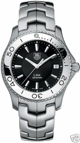 TAG HEUER LINK WJ1110.BA0570 SWISS QUARTZ STEEL MENS MINT BLACK WATCH GIFT IDEA