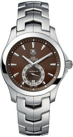 TAG HEUER LINK WJF211C.BA0570 AUTOMATIC CALIBRE 6 MEN'S BROWN SWISS WATCH
