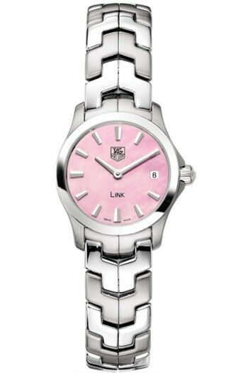 TAG HEUER LADIES LINK WJF1412.BA0585 PINK PEARL SWISS QUARTZ LUXURY RARE WATCH