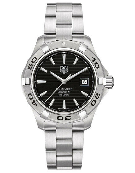 TAG HEUER AQUARACER WAP2010.BA0830 AUTOMATIC CALIBRE 5 BLACK LUXURY MENS WATCH