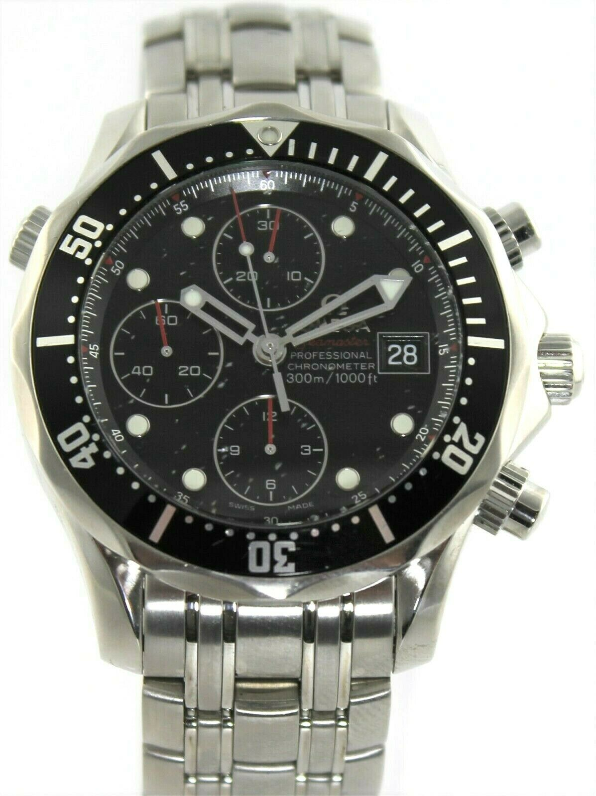 OMEGA SEAMASTER 213.30.42.40.01.001 BLACK AUTOMATIC CHRONOGRAPH MENS SWISS WATCH